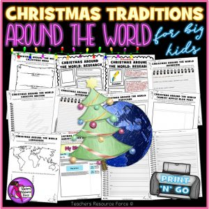 Christmas Around The World Printable Activities for Big Kids