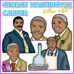 George Washington Carver Realistic Clip Art
