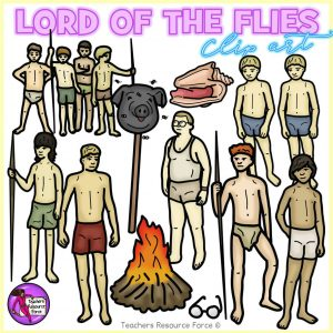 Lord of the Flies Realistic Clip Art