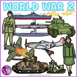 World War 2 Realistic Clip Art