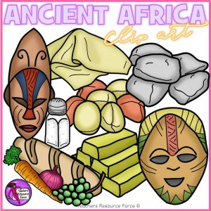 Ancient Africa Realistic Clip Art