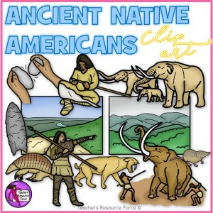 Ancient Native Americans Realistic Clip Art