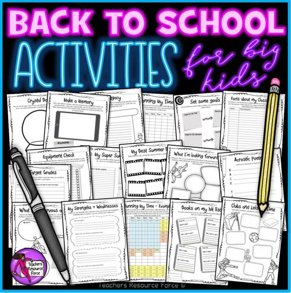 Back to school activities for teens