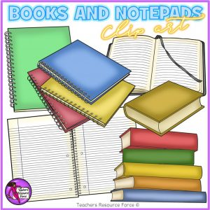 Different Types of Books Clip Art