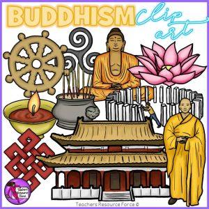 Buddhism Realistic Clip Art