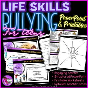 Bullying powerPoint and activities for teens