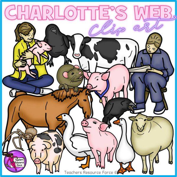 Charlotte's Web Realistic Clip Art
