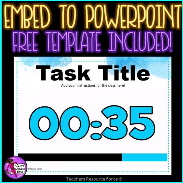 Countdown Timers for your PowerPoint Resources