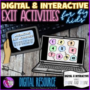 Digital Interactive Exit Activities ideal for 1:1 Classrooms