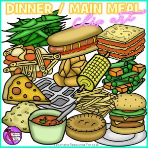 Main Meal Dinner Food Clip Art