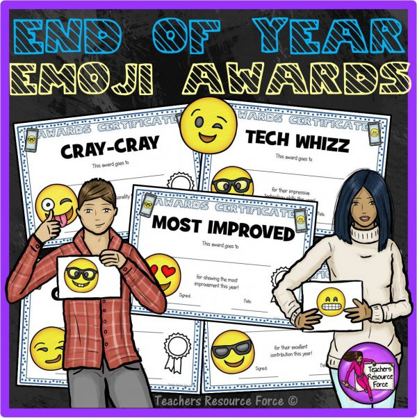 End of the Year Emoji Awards for Big Kids