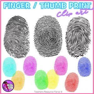Realistic Fingerprint Clip Art