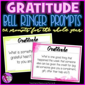 Gratitude Bell Ringers – 52 Prompts for a Whole Year