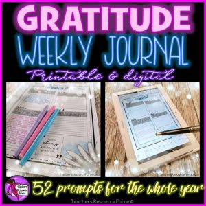 Gratitude Journal – 52 Prompts for a Whole Year