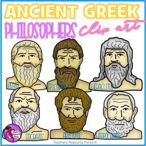 Ancient Greek Philosophers Realistic Clip Art