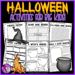 Printable Halloween Activities for Big Kids