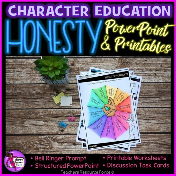 Honesty Character Education: PowerPoint, Activities, Discussion Cards