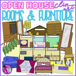 Open House, Rooms and Furniture Clip Art