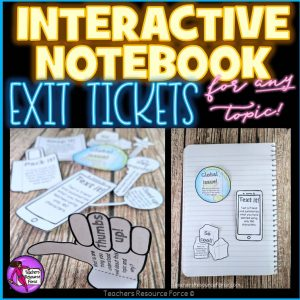 Growth Mindset Emoji Interactive Notebook Exit Tickets