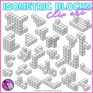 Isometric Blocks Math Clip Art