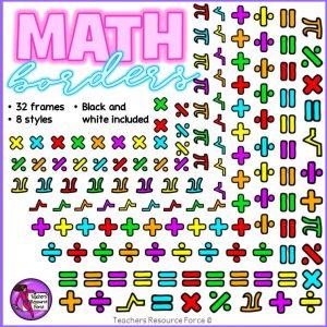 Math Symbol Borders Clip Art