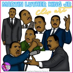 Martin Luther King Jr Realistic Clip Art