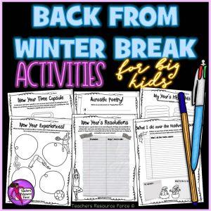New Years: Back from Winter Break Activities