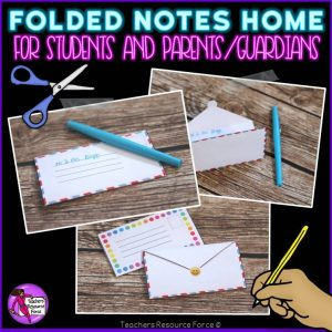 Folded Notes Home to Parents Rewards for Big kids