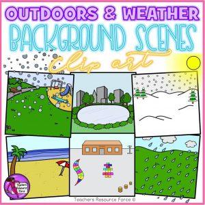 Outdoor Background Scenes & Weather Clip Art
