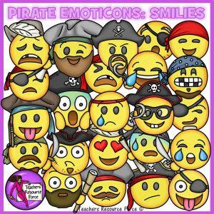Pirate Emoji Clip Art: Smiley Faces