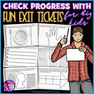 Plenary Cards Exit Tickets for Big Kids
