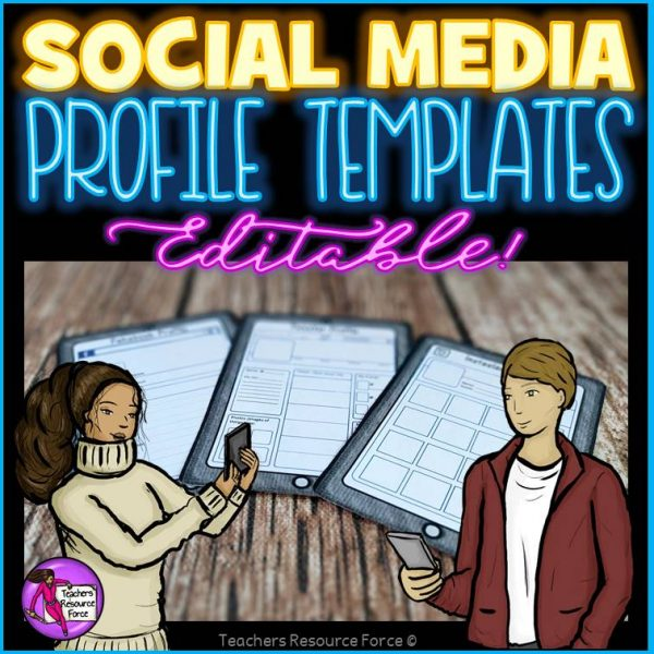 All about me social media profile templates