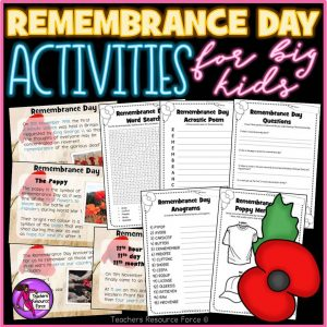Remembrance Day Activities for Big Kids