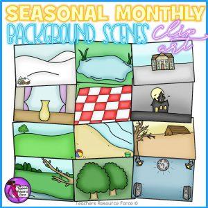 Seasonal / Monthly Background Scenes Clip Art