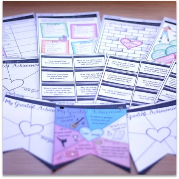 Self-Esteem Character Education: PowerPoint, Activities, Discussion Cards