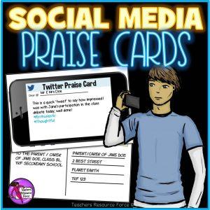 Social Media Praise Postcard Rewards for Big Kids