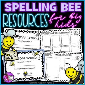 Run Your Own Spelling Bee Resource Pack