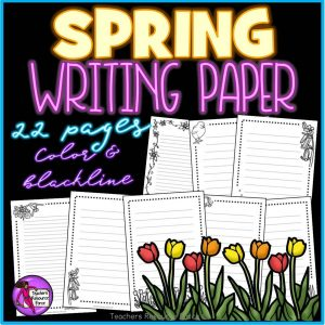Spring Writing Paper for any Literacy Activities