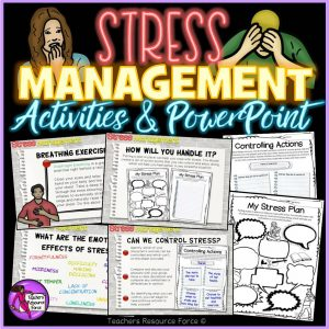Stress management powerpoint and activities for teens