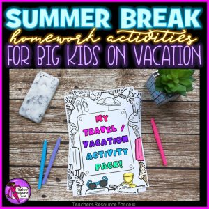 Summer Break Homework Activities for Big Kids