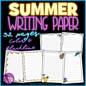 Summer Writing Paper for any Literacy Activities