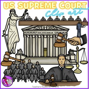US Supreme Court Realistic Clip Art