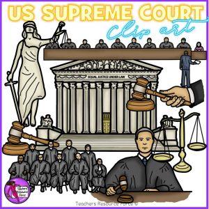 US Supreme Court Realistic Clip Art
