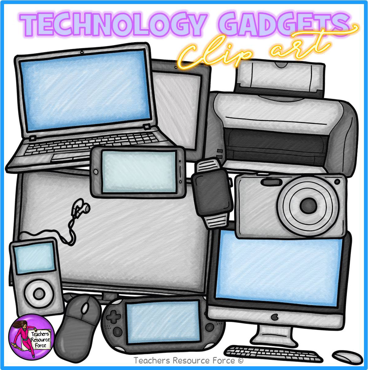 Technology Clip Art: Gadgets for the Office / Classroom ...