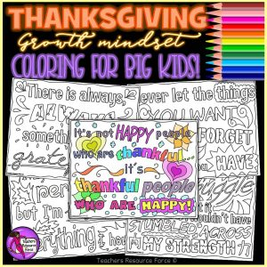 Thanksgiving Quote Colouring Pages for Big Kids