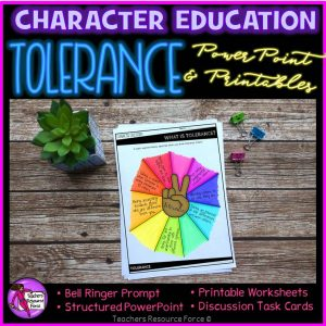 Tolerance Character Education: PowerPoint, Activities, Discussion Cards