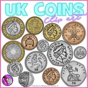 UK coin clip art