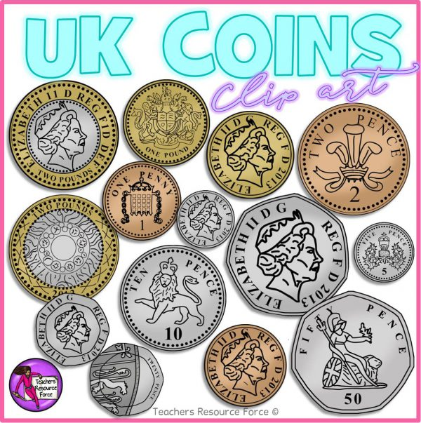 UK coin clip art