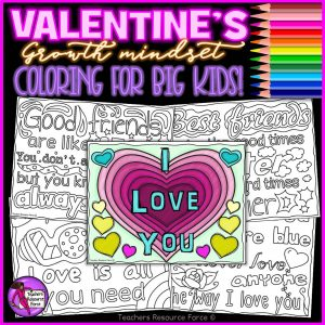 Valentine's Quote Colouring Pages for Big Kids
