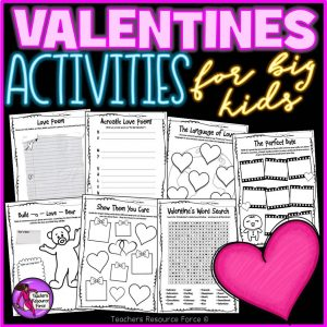Printable Valentine's Day Activities for Big Kids